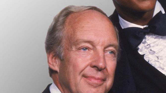 """FILE - This Sept. 13, 1981 file photo shows actor Conrad Bain from the television show """"Different Strokes,""""  at the Emmy Awards in Los Angeles. Bain, who starred as the kindly white adoptive father of two young African-American brothers in the TV sitcom """"Diff'rent Strokes,"""" died of natural causes, Monday, Jan. 14, 2013, at his home in Livermore, Calif. He was 89.  (AP Photo, file)"""