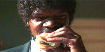 Samuel L. Jackson as Jules Winnfield in Miramax's Pulp Fiction