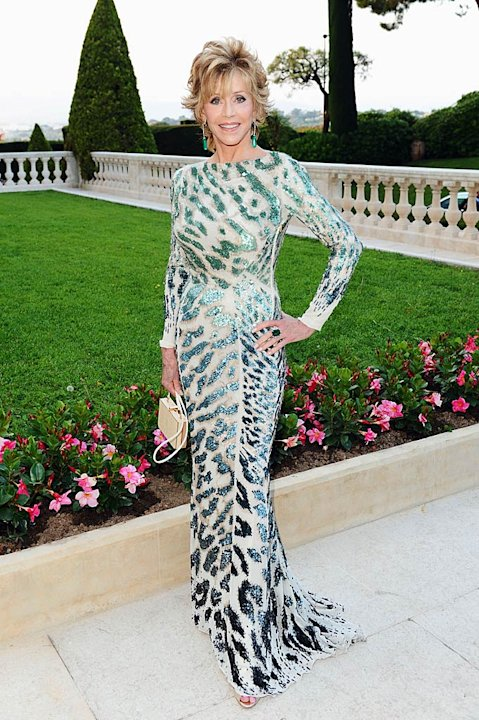 Jane Fonda amfAR Cannes