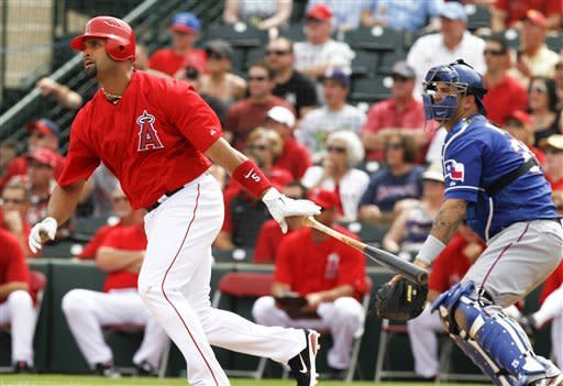 Pujols homers again for Angels