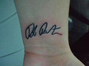 Rob Pattinson Tattoo