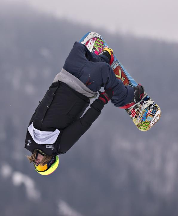 Halldor Helgason, of Iceland, performs during the snowboard slopestyle World Cup qualifying round on Friday, Jan. 17, 2014, at the Stoneham ski resort in Stoneham, Quebec. Helgason failed to qualify f