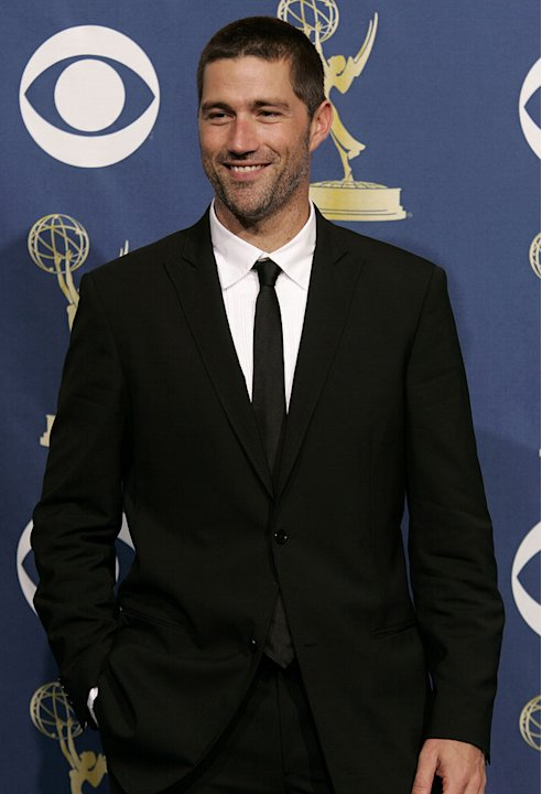 [ytvperson id=356430]Matthew Fox[/ytvperson], presenter at The 57th Annual Emmy Awards. Matthew Fox