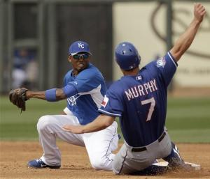 Andrus gets 3 hits in Rangers' 7-6 loss to Royals