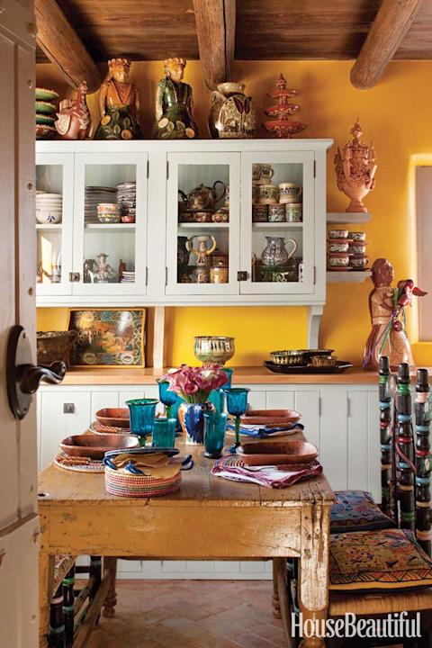 A Sun-Baked Yellow Kitchen