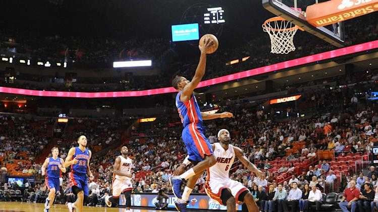 NBA: Detroit Pistons at Miami Heat