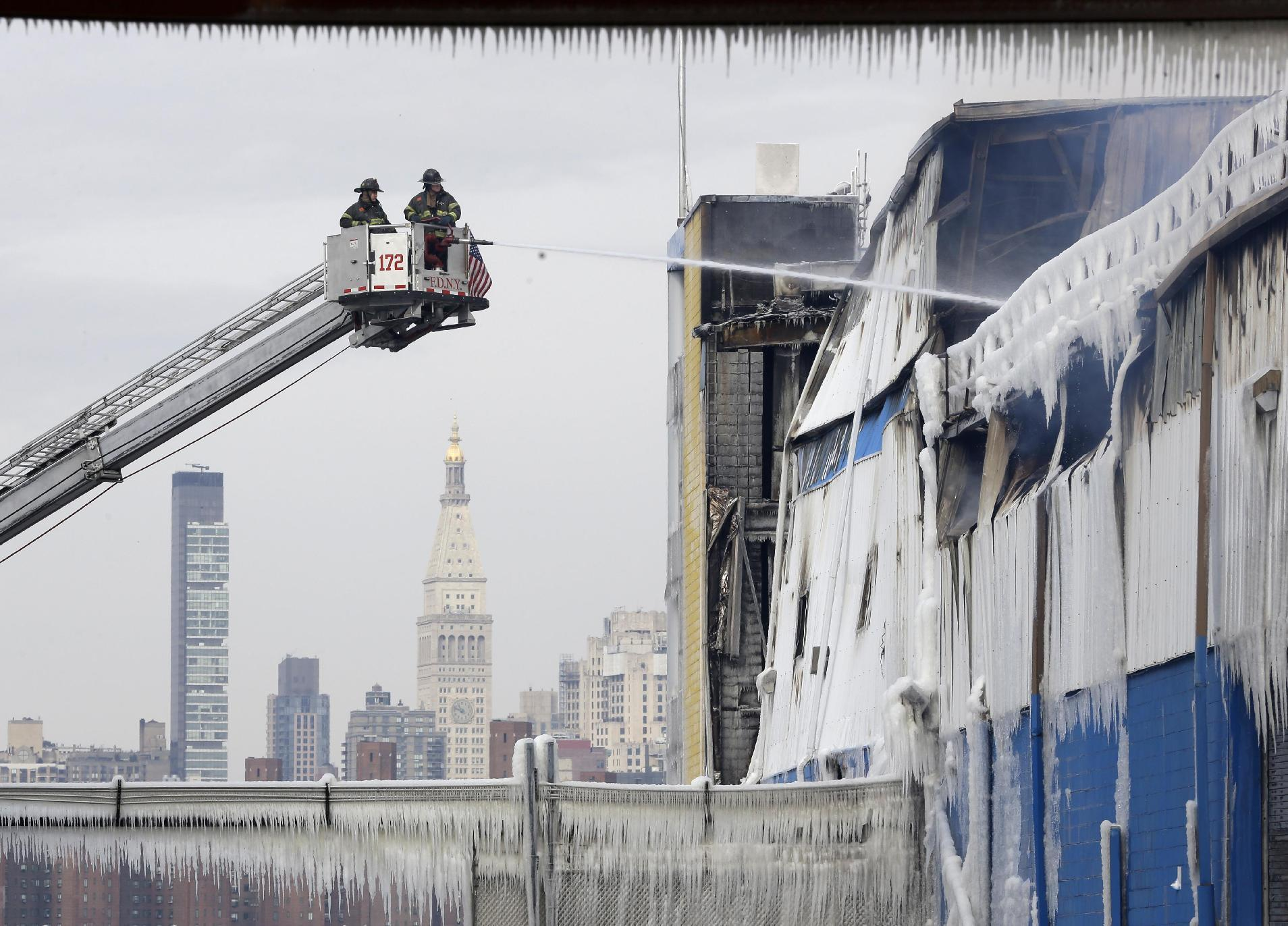Warehouse fire in trendy NYC neighborhood could smolder for weeks