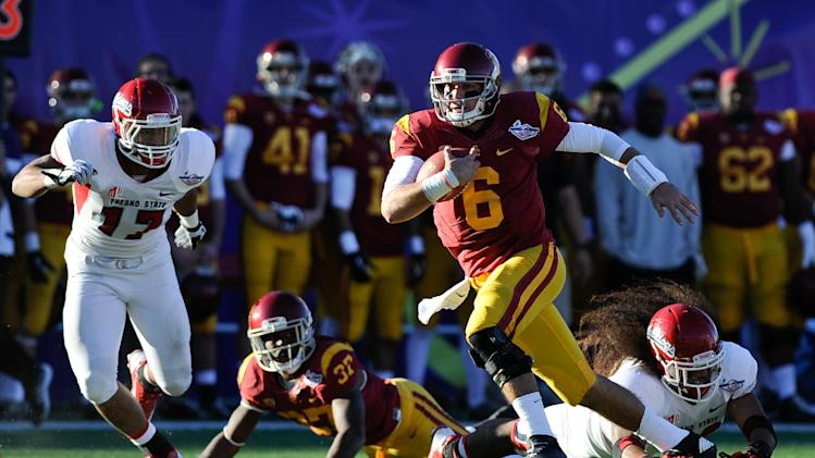 USC routs No. 21 Fresno St 45-20 in Las Vegas Bowl