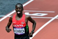Kenya&#39;s Ezekiel Kemboi (pictured on August 3) can become the second man after defending champion Brimin Kipruto in Beijing in 2008 to win the Olympic 3000m steeplechase title as reigning world champion