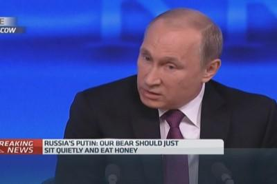 Putin: West wants to defang, declaw Russian bear
