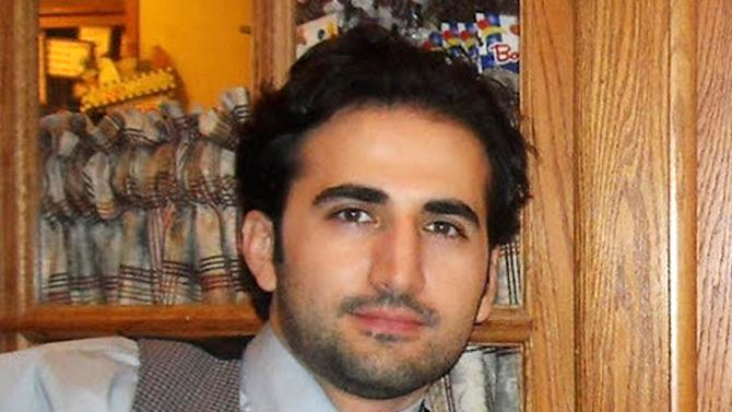 FILE - This undated file photo released by his family via FreeAmir.org shows former U.S. Marine Amir Hekmati, who has been detained in Iran for nearly two years on accusations of spying for the CIA. Hekmati's sister, Sarah Hekmati, told The Flint Journal for a story published Monday, May 6, 2013, that her brother is finally receiving visits from an uncle there and he has been able to send letters to immediate family members. The family holds out hope that the developments could signal some movement toward the 29-year-old's release and eventual return home. (AP Photo/Hekmati family via FreeAmir.org, File)