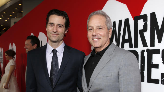 "Producers Todd Lieberman and David Hoberman attend the LA Premiere of ""Warm Bodies"" at the ArcLight Cinerama Dome on Tuesday, Jan. 29, 2013 in Los Angeles, California. (Photo by Todd Williamson/Invision for The Hollywood Reporter/AP Images)"