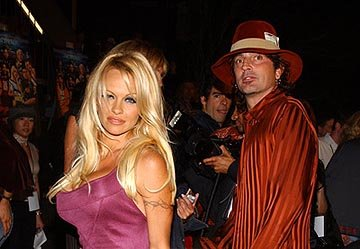 Pamela Anderson and Tommy Lee at the LA premiere of Dimension's Scary Movie 3