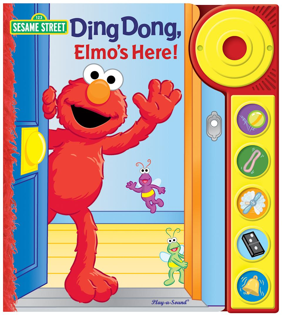 "This book cover image released by Sesame Workshop shows, ""Ding Dong, Elmo's Here!"" With the childhood obesity rate tripling in the past 30 years to 1 in 3 children in the United States overweight or obese, a collection of picture books are available to help kids make choices that are healthier. (AP Photo/Sesame Workshop)"