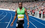 Reigning 100-metre world champion Yohan Blake of Jamaica, pictured here in 2011, won the 100m crown at the Donovan Bailey Invitational on Saturday in 10.05 seconds