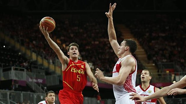 Spain's Rudy Fernandez goes in for a lay-up (Reuters)