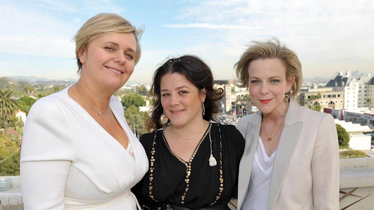From left, Michelle Feeney, Tracy Cunningham and Carol McColgin are seen at the The Hollywood Reporter's Beauty Luncheon held at the Chateau Marmont on Wednesday Nov. 14, 2012 in Los Angeles. (Photo by John Shearer/Invision for THR/AP Images)