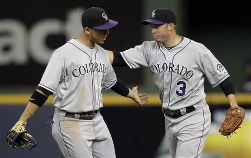 Cuddyer leads Rockies to 4-1 win over Brewers