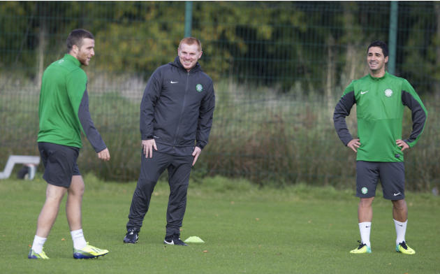 Soccer - UEFA Champions League - Group H - Celtic v Barcelona - Celtic Training - Lennoxtown