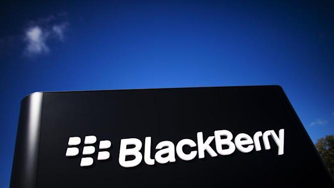The company logo is see at the Blackberry campus in Waterloo