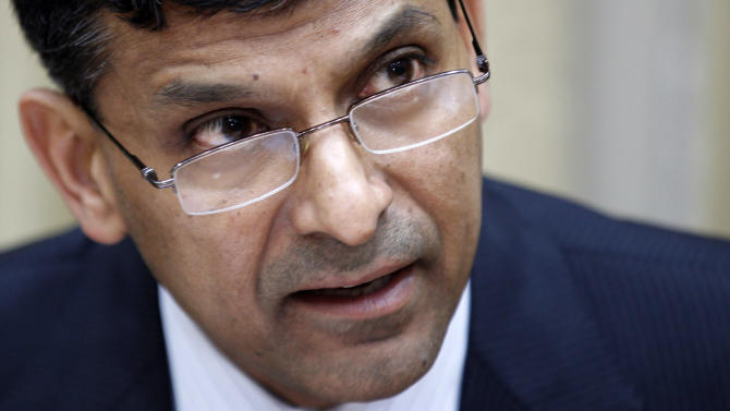 Newly appointed Reserve Bank of India (RBI) Governor Raghuram Rajan addresses a press conference at the RBI headquarters in Mumbai, India, Wednesday, Sept. 4, 2013. (AP Photo/Rajanish Kakade)