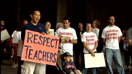 Teachers rally for increase of general excise tax