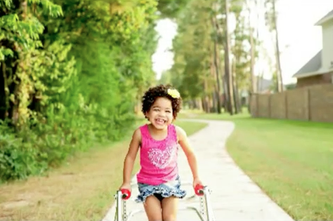 A Walker for this Adorable Kindergartner with Cerebral Palsy