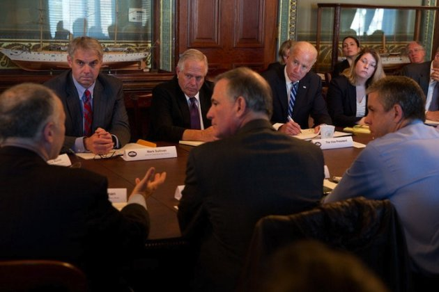Vice President Joe Biden meets with gun owner groups today at the White House to discuss efforts to curb gun violence. (Official White House Photo)