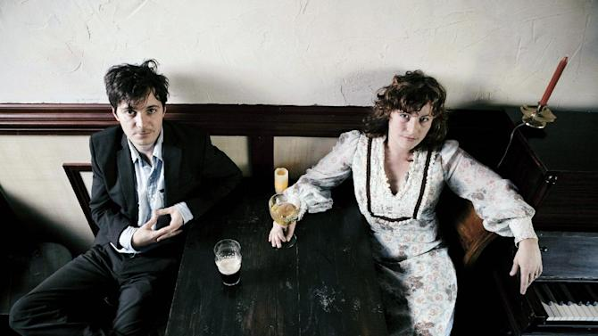 This undated publicity image released by Dualtone Music Group shows Michael Trent, left, and Cary Ann Hearst from the band Shovels & Rope. On Tuesday, May 14, 2013, Hearst and Trent earned four nominations for the Americana Honors & Awards, including album, song and emerging artist of the year. The awards will be held Sept. 18 at Ryman Auditorium in Nashville, Tenn.  (AP Photo/Dualtone Music Group, Leslie Ryan McKellar)