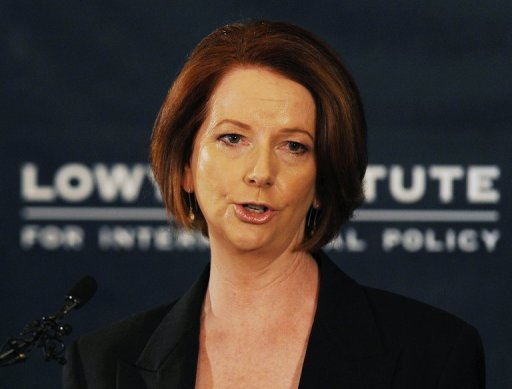 &lt;p&gt;Australian Prime Minister Julia Gillard speaks during the release of the Government&#39;s White Paper on &#39;Australia in the Asian Century,&#39; at the Lowy Institute in Sydney, on October 28. The ambitious plan, aimed at maximising links with booming China and other soaring Asian economies, will power Australia into the world&#39;s top 10 wealthiest nations by 2025, the government says.&lt;/p&gt;