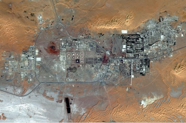 This Oct. 8, 2012 satellite image provided by DigitalGlobe shows the Amenas Gas Field in Algeria, which is jointly operated by BP and Norway's Statoil and Algeria's Sonatrach. Algerian special forces