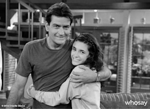 Sheen with new co-star Daniela Bobadilla (WhoSay)