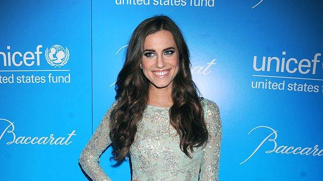 """Girls"" co-star Allison Williams made a splash at this year's star-studded Snowflake Ball in a mermaid-like creation, courtesy of designer Naeem Khan. Complimenting the dress' metallic sequins were a silver Bulgari ring and earrings. (11/27/2012)"