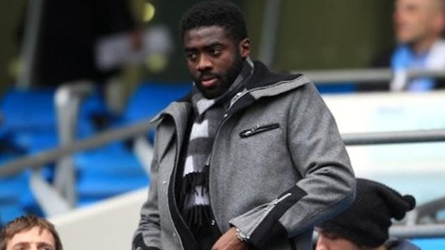 Manchester City's Kolo Toure in the stands when at Manchester City (PA Photos)