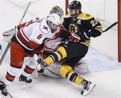 Ward's shutout completes Canes sweep of Bruins