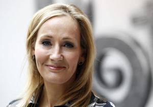 File photograph shows British writer JK Rowling, author of the Harry Potter series of books, posing during the launch of the new online website Pottermore in London