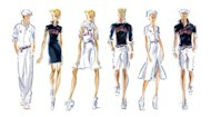Sketches provided by Ralph Lauren on July 10 shows the uniforms designed by Ralph Lauren for the US Olympic and Paralympic teams. Lauren is giving the entire team blue blazers with the official team patch and the designer&#39;s signature pony motif