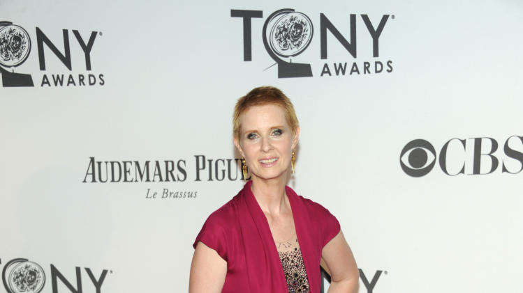 Cynthia Nixon arrives at the 66th Annual Tony Awards on Sunday June 10, 2012, in New York. (Photo by Evan Agostini /Invision/AP)