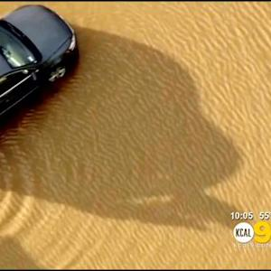 Flooding In Moreno Valley; Big Bear Waits For Snow