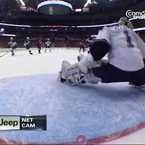 Brian Elliott robs Ovechkin with his leg pad