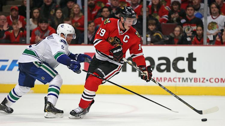Vancouver Canucks v Chicago Blackhawks