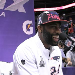 Best of Super Bowl XLIX Media Day: New England Patriots cornerback Darrelle Revis