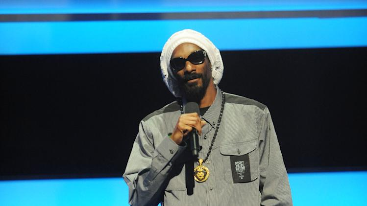 IMAGE DISTRIBUTED FOR MTV - Special guest Snoop Lion appears at the 2013 MTV Upfront, on Thursday, April 25, 2013 at the Beacon Theater in New York. (Photo by Brad Barket/Invision/AP Images)