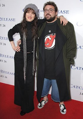 Juliette Lewis and Kevin Smith at the Hollywood premiere of Columbia Pictures' Catch and Release