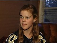 Caroline Pla, 11, has been banned from football by the Catholic Youth Organization -- FOX 29