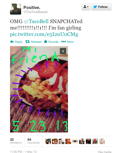 Twitter Taco Bell Snapchat