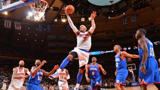 Knicks beat 76ers 99-93 to end 4-game skid