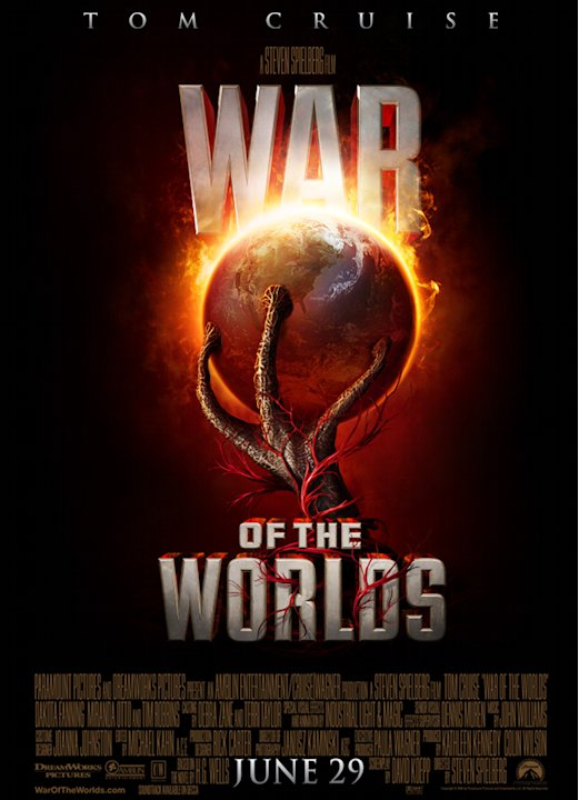 War of the Worlds Poster Production Stills Paramount 2005