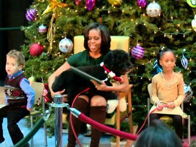 Raw: Bo Surprises Michelle Obama