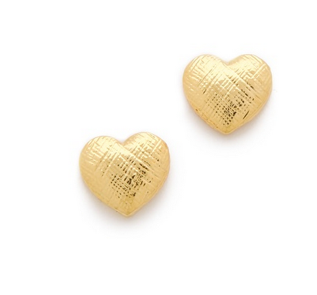 Tuleste Market Heart Stud Earrings